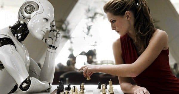 Робот играет в шахматы
