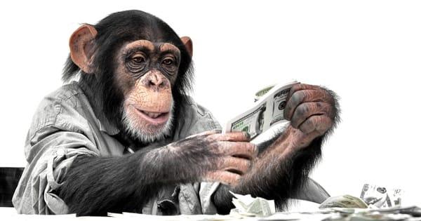 Обезьяна с деньгами