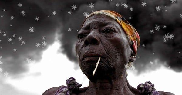 Нигерия в снегу