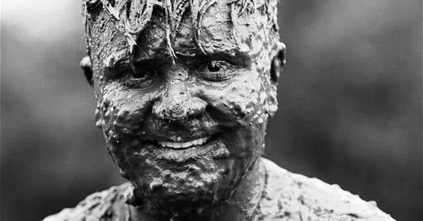 Лицо в грязи