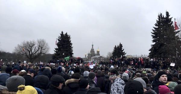 Антикоррупционный митинг в Петербурге