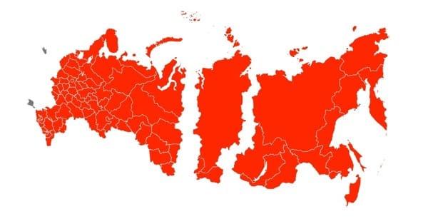 карта России с Крымом