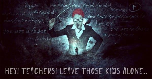 Teachers leave them kids alone