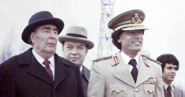 Брежнев и Каддафи на параде