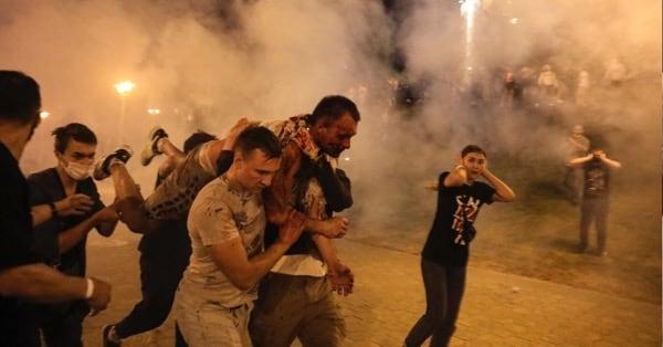 Беларусь - столкновения с милицией