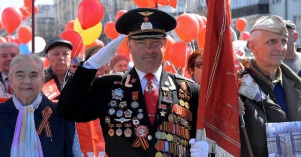 Ряженый ветеран на День Победы