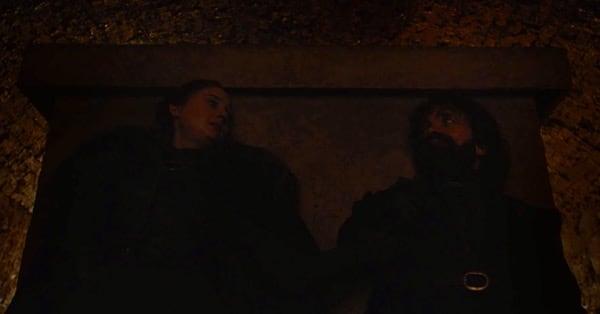Игра Престолов - Санса и Тирион в крипте