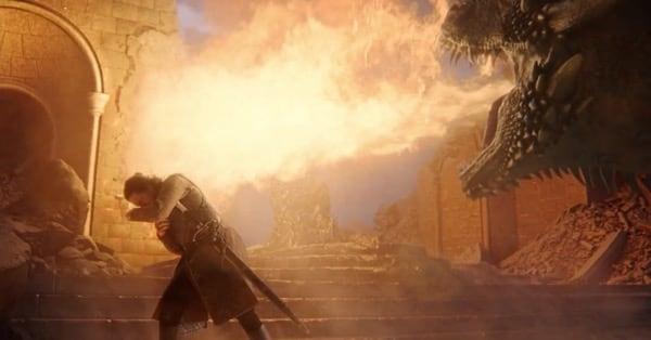Игра Престолов - Дрогон сжигает Железный трон