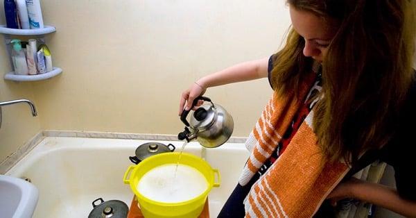 Мытьё холодной водой