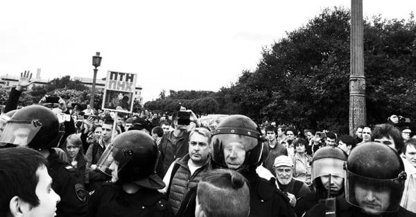 Митинг 12 июня, Марсово поле, Петербург, ОМОН