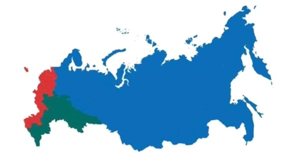 Три части России с одинаковым количеством населения
